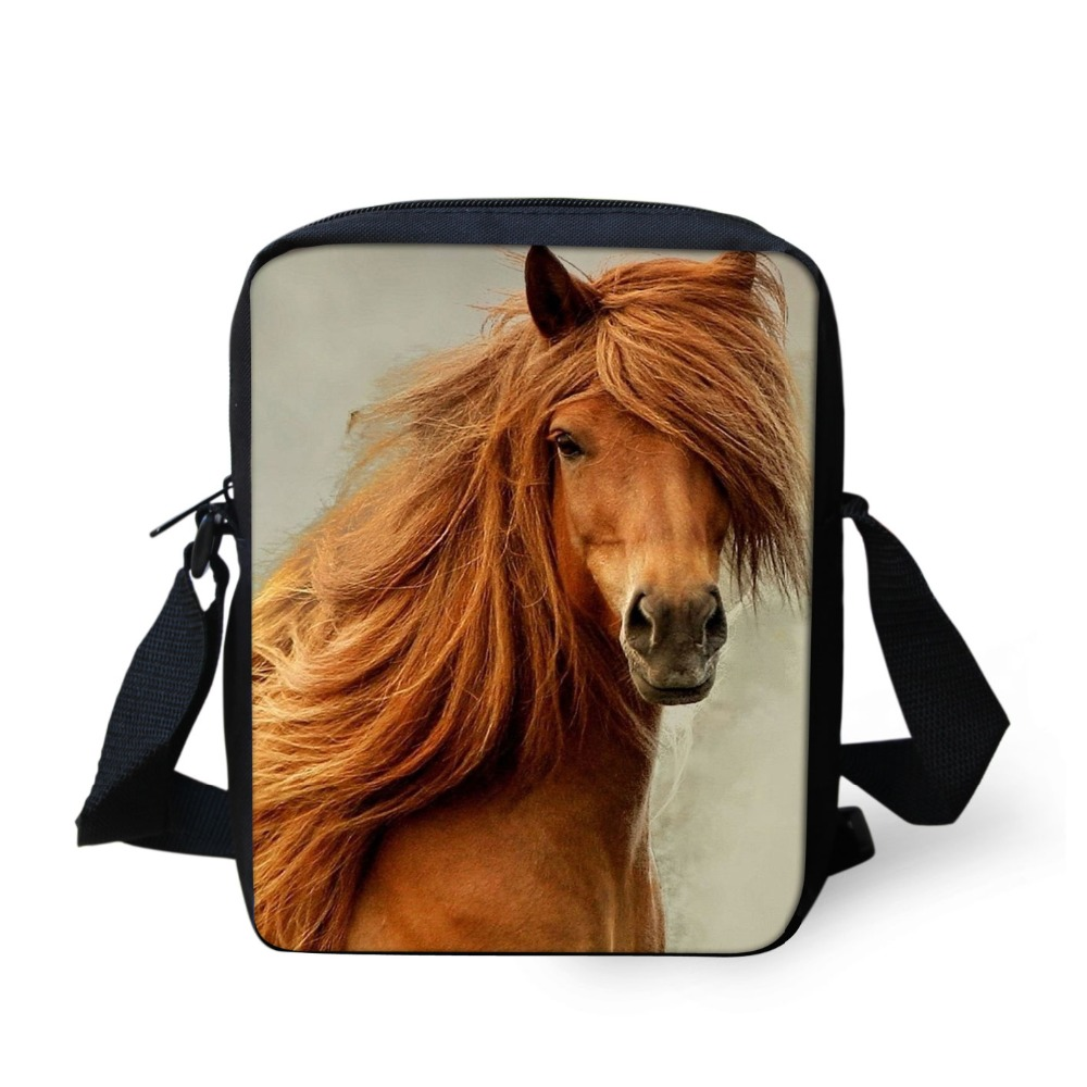 Brand Designer Crazy Horse Printing Kids School Shoulder Bags Kindergarten Child Baby Small Mini Schoolbags Daily Travel Bags