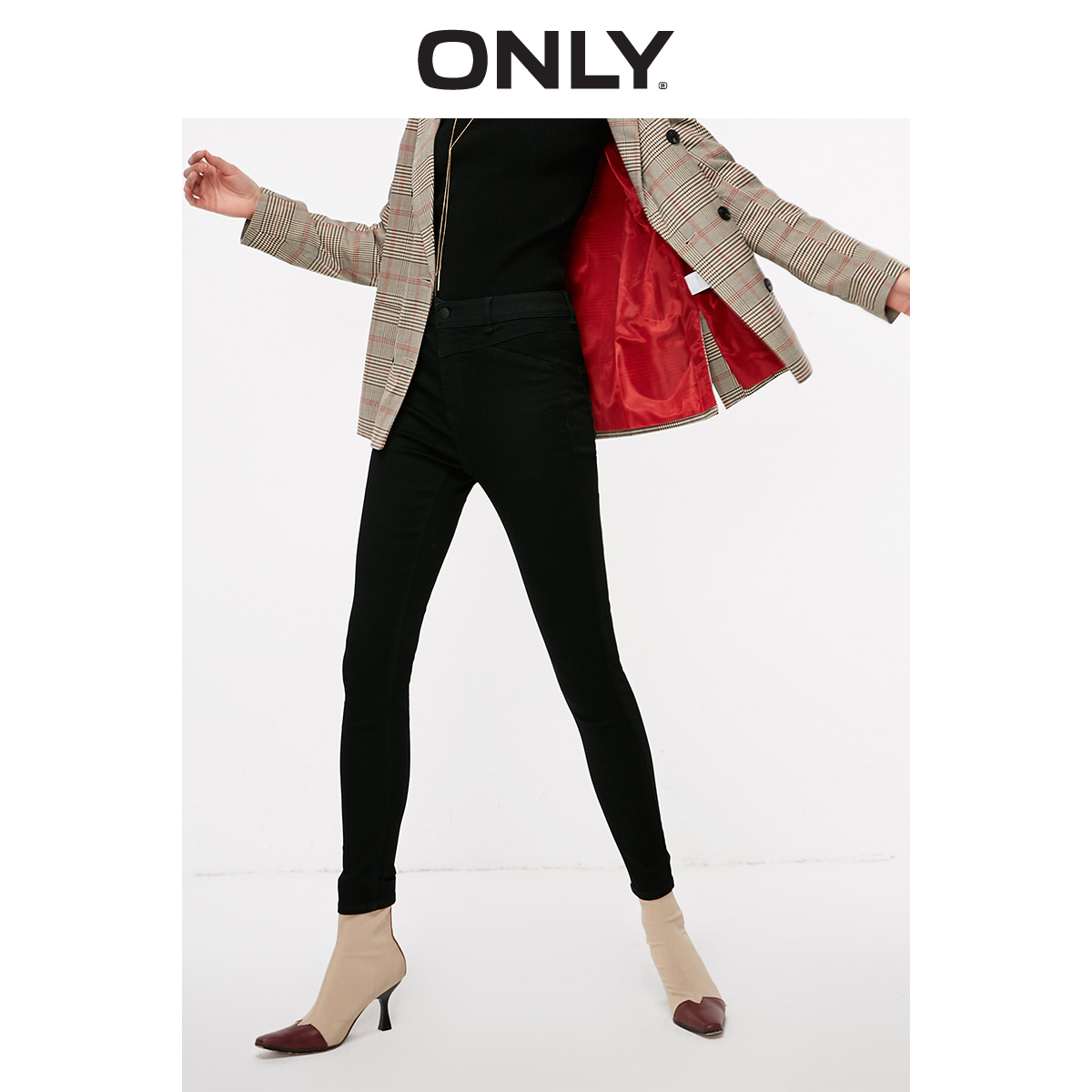 ONLY 2019 Spring Summer New Women's High-rise Stretch Skinny   Jeans   |119163501