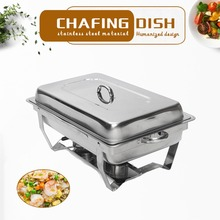 GZZT Chafing Dish Buffet Stoves Caterer 9L/9Quart  Stainless Steel  Rectangular Restaurant Party Food Warmer Tray Kitchen Tool цена и фото
