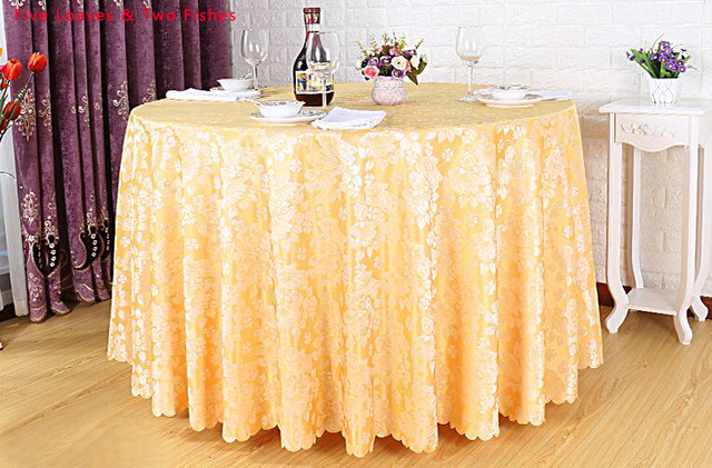 Hot Sale Hotel Tablecloth High Quality Restaurant Dining Wedding Table  Cover Wave Edge Party Tablecloths Round