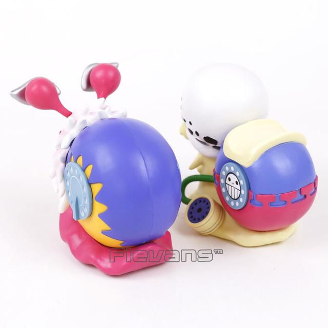 Anime One Piece 2pcs/set Trafalgar Law Doflamingo Den Den Mushi Telephone PVC Figures Collectible Model Toy