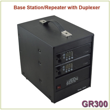 Brand New GR300 Two-way Radio Walkie Talkie  Base Station/ Repeater 350-390MHz 25Watts 8 Channels Repeater with Duplexer 1