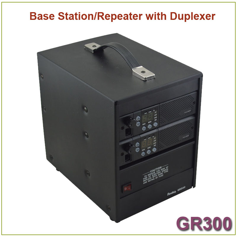 Brand New GR300 Two-way Radio Walkie Talkie  Base Station/ Repeater 350-390MHz 25Watts 8 Channels Repeater With Duplexer