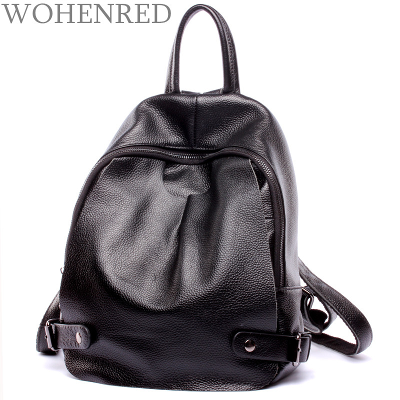 Brand Bag Backpack Female Genuine Leather Travel Bag Women Shoulder Daypacks Hgih Quality Casual School Bags For Girl Backpacks faux leather fashion women backpacks vintage casual daypacks shoulder bags travel bag free shipping