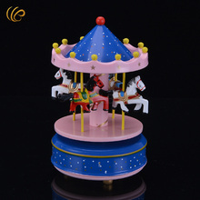 1 Piece Rotating Music Christmas Gift Carousel Music Box Nice Crafts Worth Collection