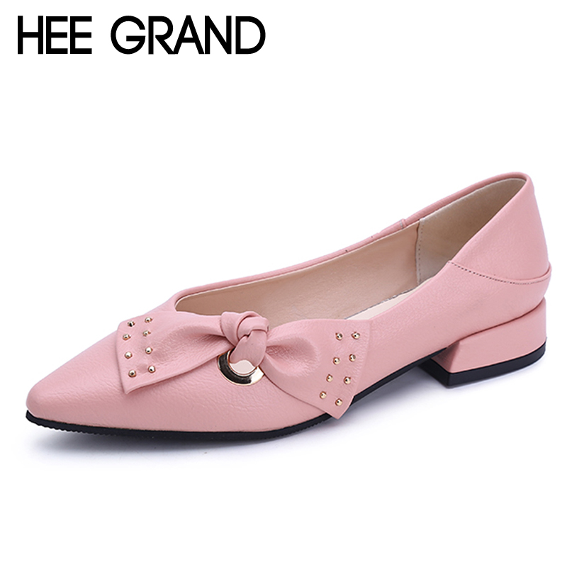 HEE GRAND Sweet Patent Leather Women Oxfords Shoes For Spring Pointed Toe Platform Low Heels Pumps Brogue Shoes Woman XWD6447 hee grand spring platform women pumps with bowtie patent leather shoes woman round toe slip on loafers ladies footwear xwd5975