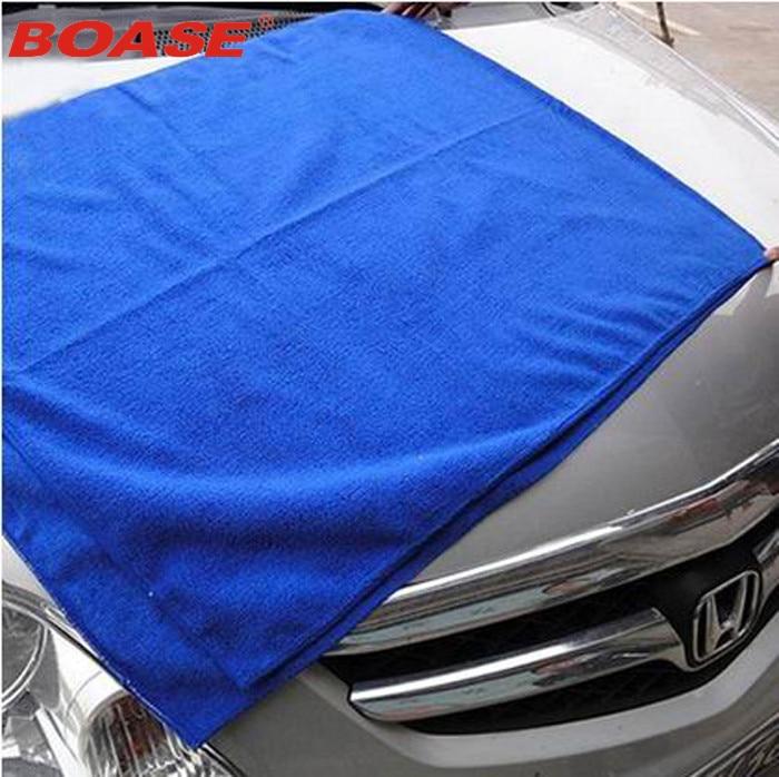 Vroče uporabno 60x160CM modro mikrovlaken brisačo za pranje avtomobila za čiščenje poljske krpe