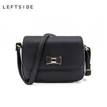 dc95d415c9 LEFTSIDE Women Bag Bow Handbag PU Leather Women s Shoulder Crossbody Bags  Ladies Small Handbags Purse Bags Bolso Pink Black