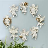 European creative home furnishings Angel sculpture/Angel statue/ Resin decorative hook wall decoration supplies Christmas Gif
