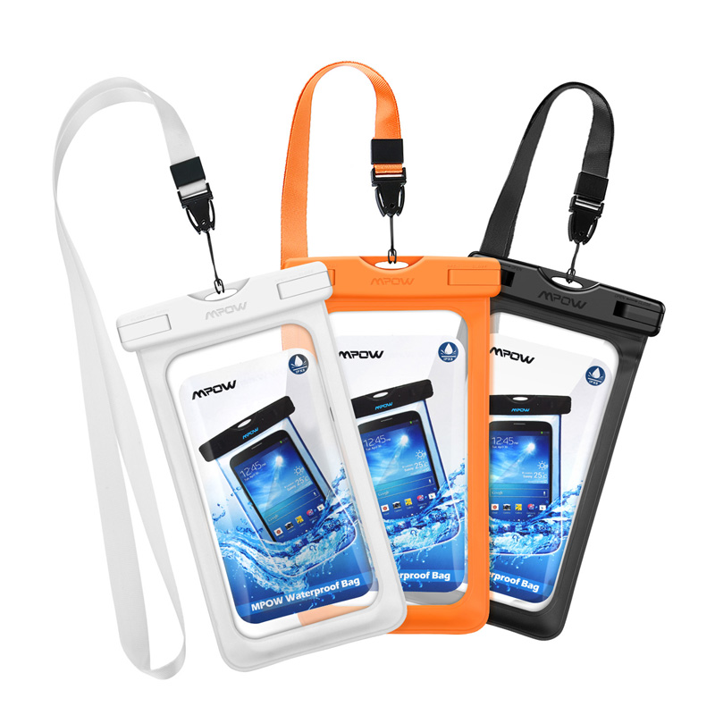 save off 0f5ea d3a07 US $10.74 53% OFF|3pcs/lot Mpow PA079 6inch IPX8 Waterproof Bag Case  Universal Phone Pouch Swimming Take Photo Underwater For Xiaomi 8 iPhone X  8 -in ...