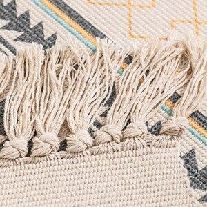 Image 4 - 60x180cm רטרו שטיחים לבית סלון רך ציצית בית שטיחים שולחן רץ דלת מחצלת עיצוב הבית