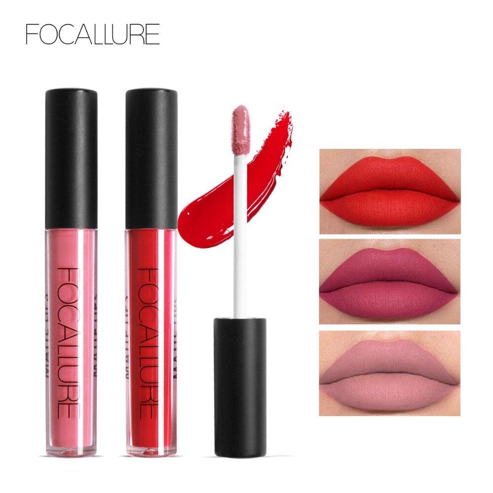 FOCALLURE Flüssigkeit Lippenstift Heißer Sexy Farben Lip Farbe Matte Lippenstift Wasserdicht Lang Anhaltende Lip Gloss Lip Kit