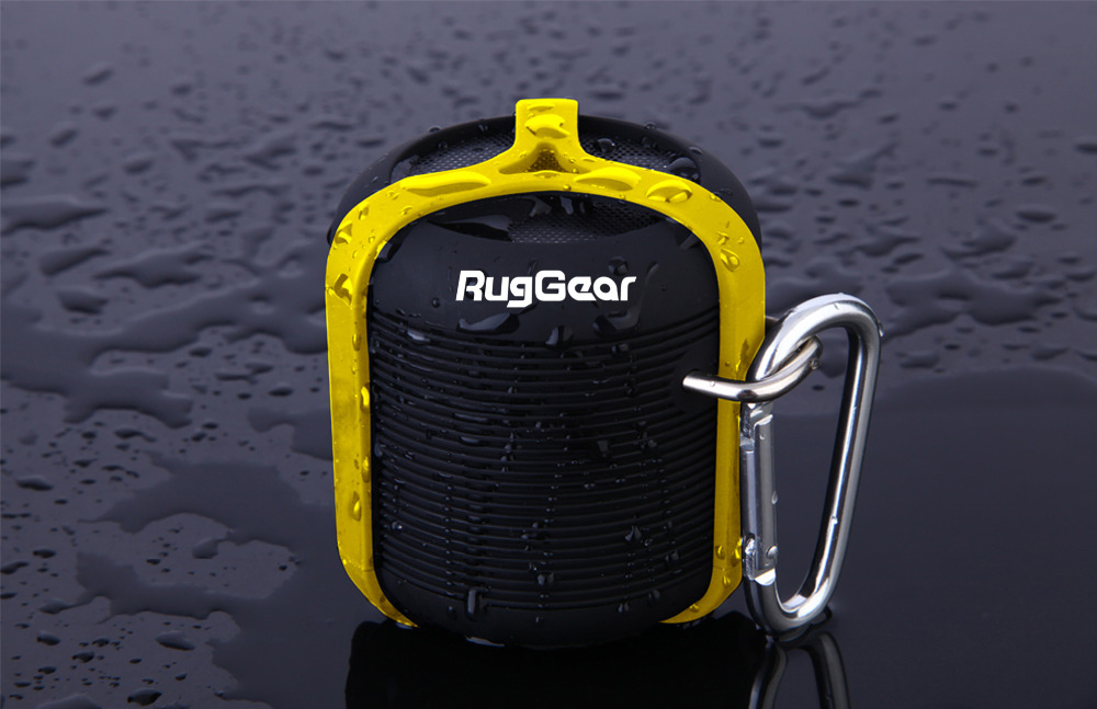 RugGear Waterproof Bluetooth Speaker - RG Satellite 1 Yellow color