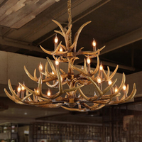 20 heads E14 bulb light source Retro Resin Materl Antler chandelier lighting