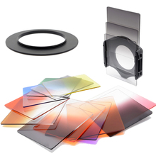 KnightX 49 82mm color nd gradual yellow photography filter holder ring for Canon eos 7d Nikon d3100 Sony cokin p camaras Lens