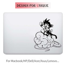 Song Goku Dragon Ball Anime Laptop Decal for Apple Macbook Sticker Pro Air Retina 11 12 13 15 inch Vinyl Mac Surface Book Skin