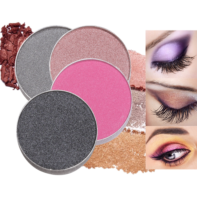 US $1 02 30% OFF|Color Salon DIY Glitter Eyeshadow Powder Makeup Single  Pigment Brighten Matte Pressed Eye Shadow Color Make Up Cosmetic powder-in  Eye