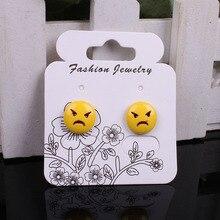 Good Quality 100pcs/lot Kraft Fashion Jewelry Earring Sets Card 5.7x4.9cm Paper Craft White Hang Tag Displays