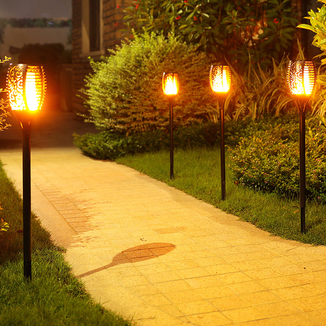 Solar flame flickering garden led light ip65 outdoor solar tiki solar flame flickering garden led light ip65 outdoor solar tiki torch light spotlights landscape decoration led workwithnaturefo