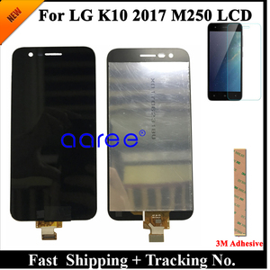 Image 2 - 100% протестированный ЖК дисплей для LG K10 2017 ЖК дисплей для K10 2017 дисплей M250 M250N M250E M250DS ЖК экран сенсорный дигитайзер в сборе
