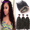 8A 360 Lace Frontal Closure With Bundle Malaysian Virgin Hair Water Wave 360 Lace Frontal With Bundles Curly Weave Human Hair