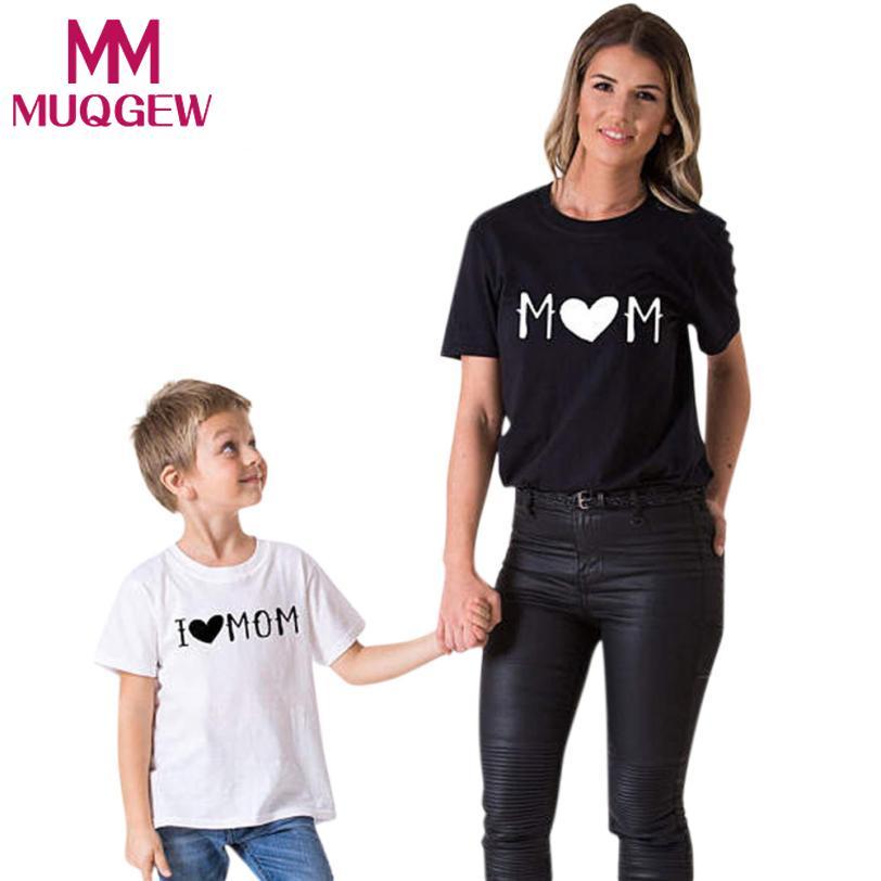 MUQGEW 2018 Для женщин рубашка для маленьких мальчиков рубашка для девочек мама мне для маленьких мальчиков и девочек короткий рукав футболки с ...
