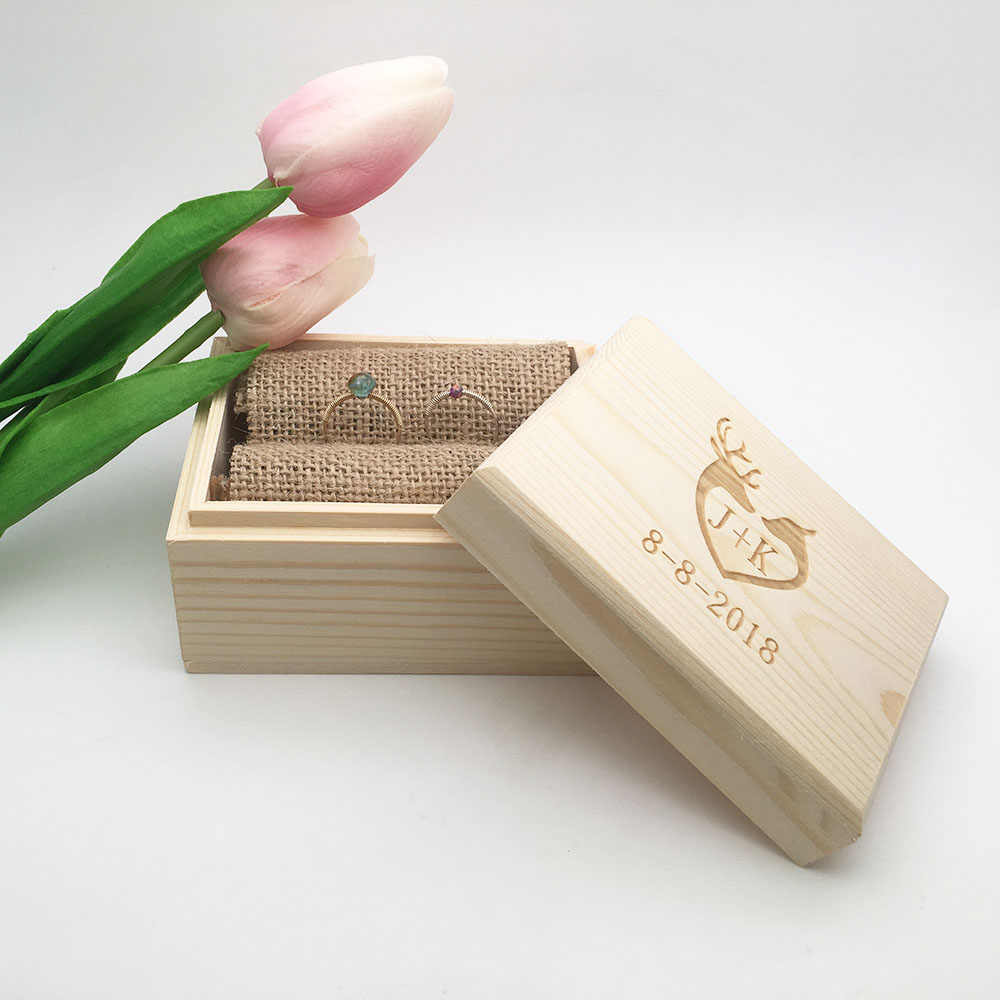 Boite A Cadeau Ring Box Custom Name Handmade Letter Jewellery Box Boite A Bijoux Boite Cadeau Sieraden Doos Wedding Ring Box Jewelry Boxes