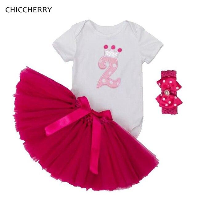 d63ca2eabb1dc 2 Years Baby Girls Birthday Tutu Sets Short Sleeve Bebes Bodysuit Lace  Skirt Headband Vetement Bebe Fille Toddler Girl Clothing-in Clothing Sets  from ...