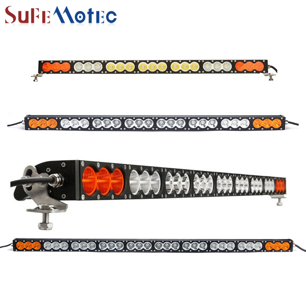 SufeMotec 300W 270W Led Light Bar High Power Single Row Fog Lamp for OffRoad Truck SUV