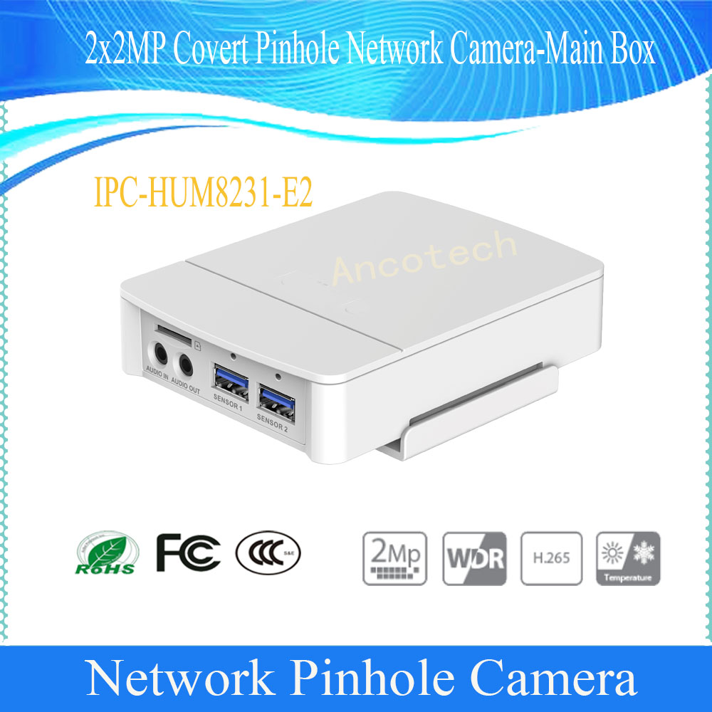 Dahua Free Shipping NEW Product CCTV 2x2MP Covert Pinhole Network Camera-Main Box without logo IPC-HUM8231-E2