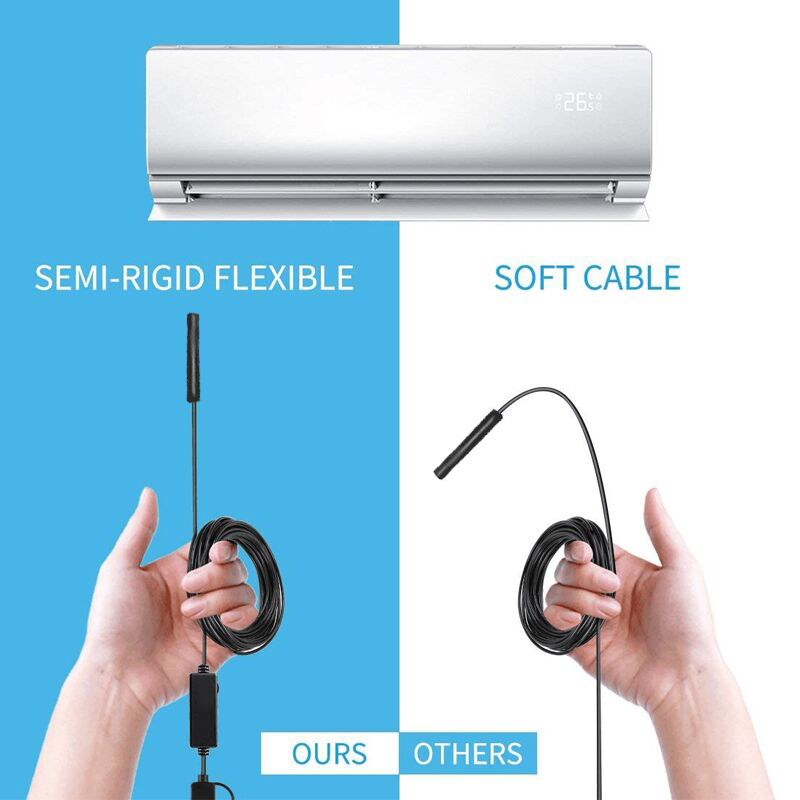 Image 4 - 3 in 1 Semi rigid USB Endoscope Camera 5.5MM IP67 Waterproof Snake Camera With 6 Led for Windows & Macbook PC Android Endoscope-in Surveillance Cameras from Security & Protection