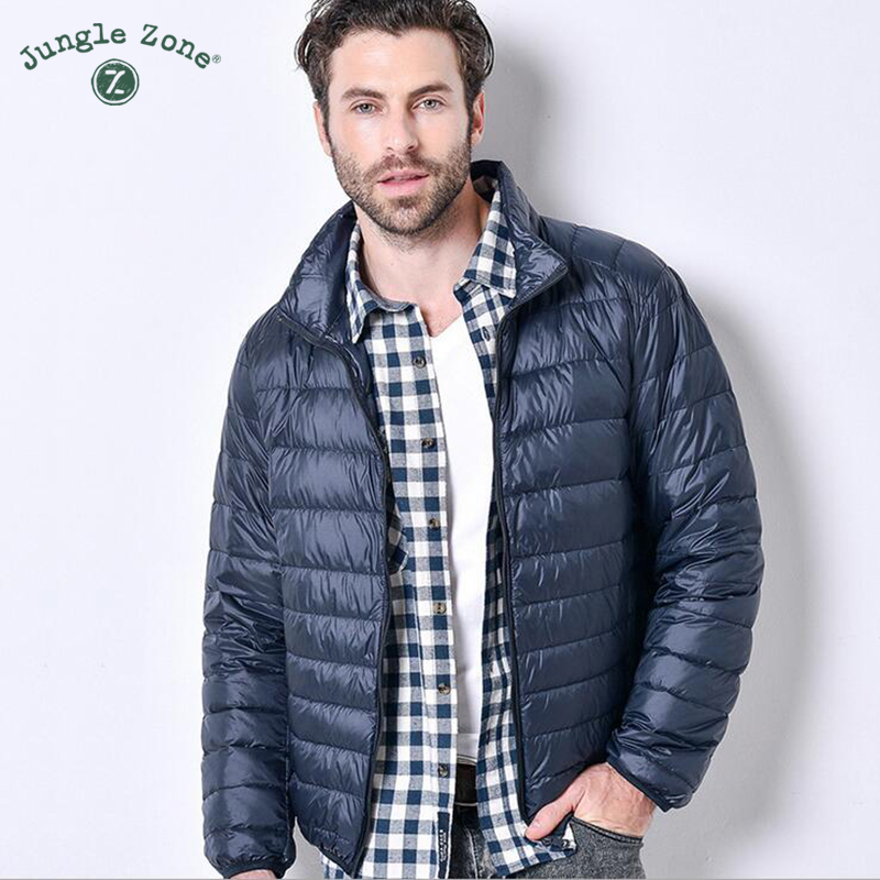 2017 autumn and winter Ultralight down jacket male jacket goose feather large size casual short jacket men down jacket wholesale