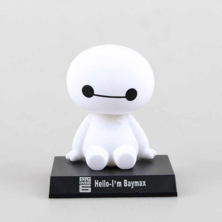 2020 新ビッグヒーロー 6 baymax おもちゃのモデル構築人形フィグマ 11 センチメートル素敵なかわいい自動車ヘッド振るアクションフィギュアギフト
