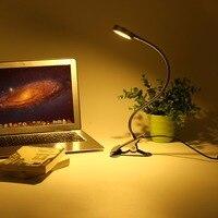Fashion Adjustable USB LED Light Clip Design Switch Lamp Desk Table Screen Keyboard Reading Lamp Soft