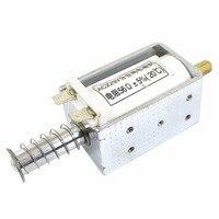 Vs1 ac 220 v dc220v dc12v dc24v 3a 3 kg quadro aberto push pull eletroímã solenóide atuador Parafusos para porta Renovação da Casa -