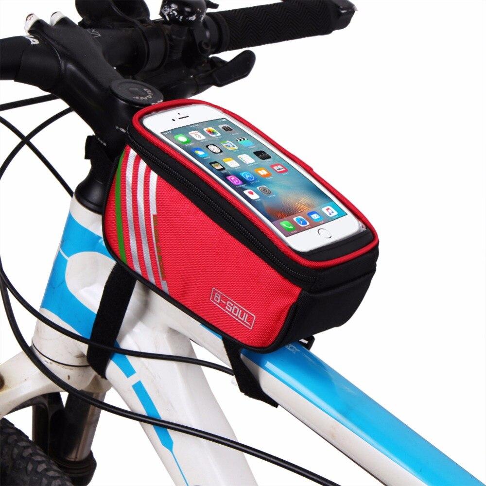 Wasserdicht Touchscreen Fahrrad Taschen Radfahren MTB Rahmen Vorne ...