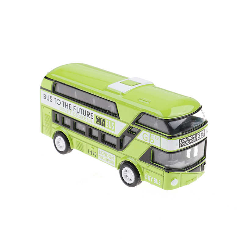 5 Colors Plastic Simulation Double Decker London Bus Toy Kids Toy Car Model Alloy Diecast Toys for Boys Gift Home Decor