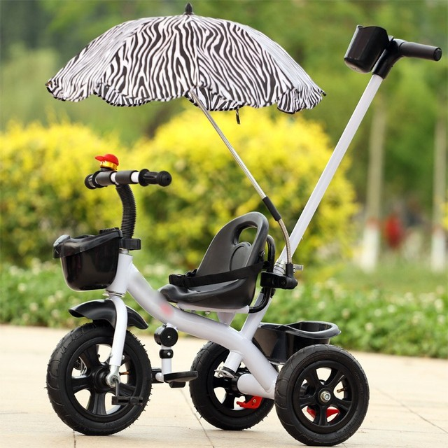 New Style Baby Tricycle Bicycle With 3 Wheels Child Stroller Bicycle With Umbrella High Quality Titanium Empty Wheel