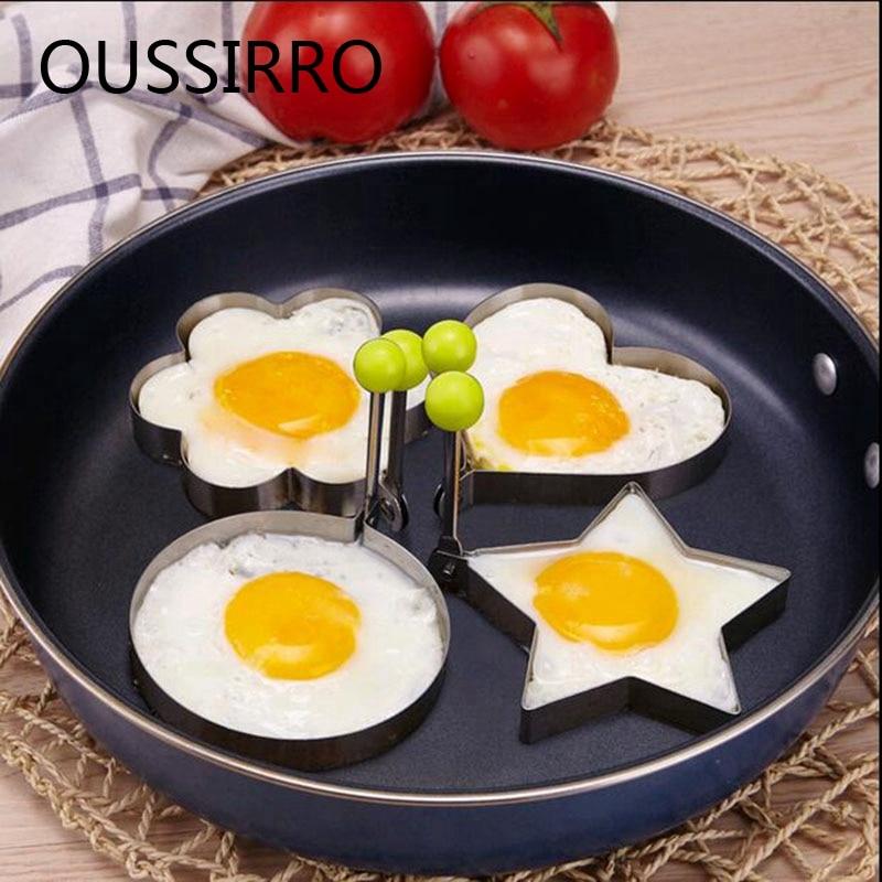 1PCS नई क्रिएटिव फ्राइड अंडे की अंगूठी प्यार फ्राइड अंडे फ्राइड अंडे स्टेनलेस स्टील मोल्ड खाना पकाने के उपकरण के लिए मर जाते हैं