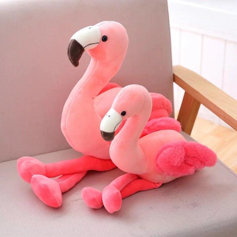 Flamingo flamingo pássaro brinquedo de pelúcia boneca de pelúcia macia  presente de aniversário crianças brinquedo para crianças caçoa meninas em  Stuffed ... 4390b3840109a