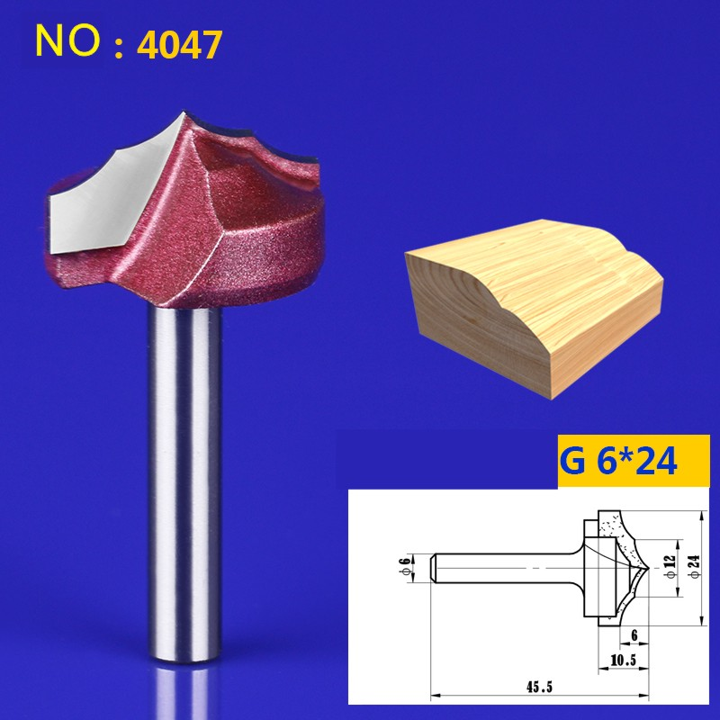 1pcs 6*24mm Chest/Door Engraving Machine Milling Knife,Wood Cutter Router Bit Knives 3D Lace Woodworking milling cutter NO:4047 1 2 5 8 round nose bit for wood slotting milling cutters woodworking router bits
