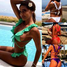 Phaixoneible New Swimsuit Women Swimwear Sexy Bikini Set Bandage Bathing Suit Summer Beachwear Lady Biquini все цены
