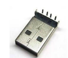 100 pcs of 90 degree elbow USB male connector for USB wire, DIY component