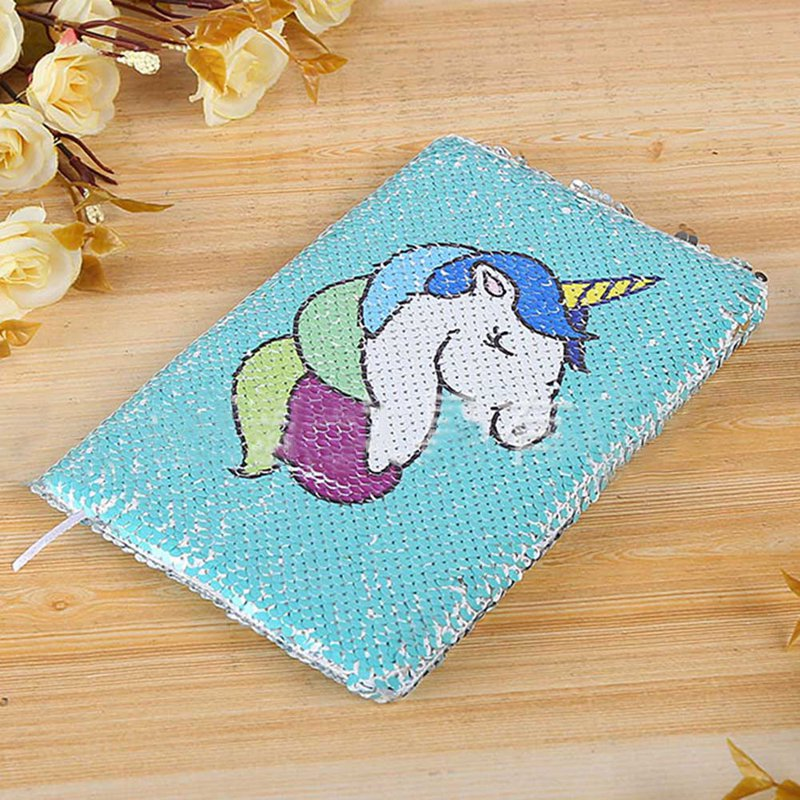 A5 Unicorn Reversible Sequin Notebook Color