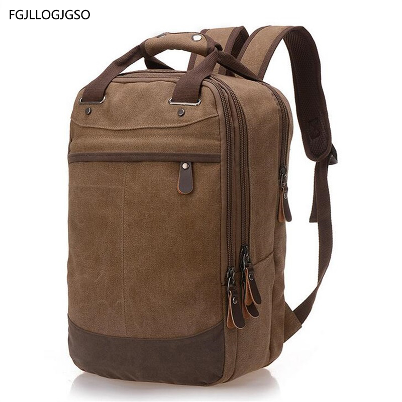 Canvas backpack Large capacity shoulder bag European men Business travel military backpack for women casual Laptop backpack girl men s casual bags vintage canvas school backpack male designer military shoulder travel bag large capacity laptop backpack h002