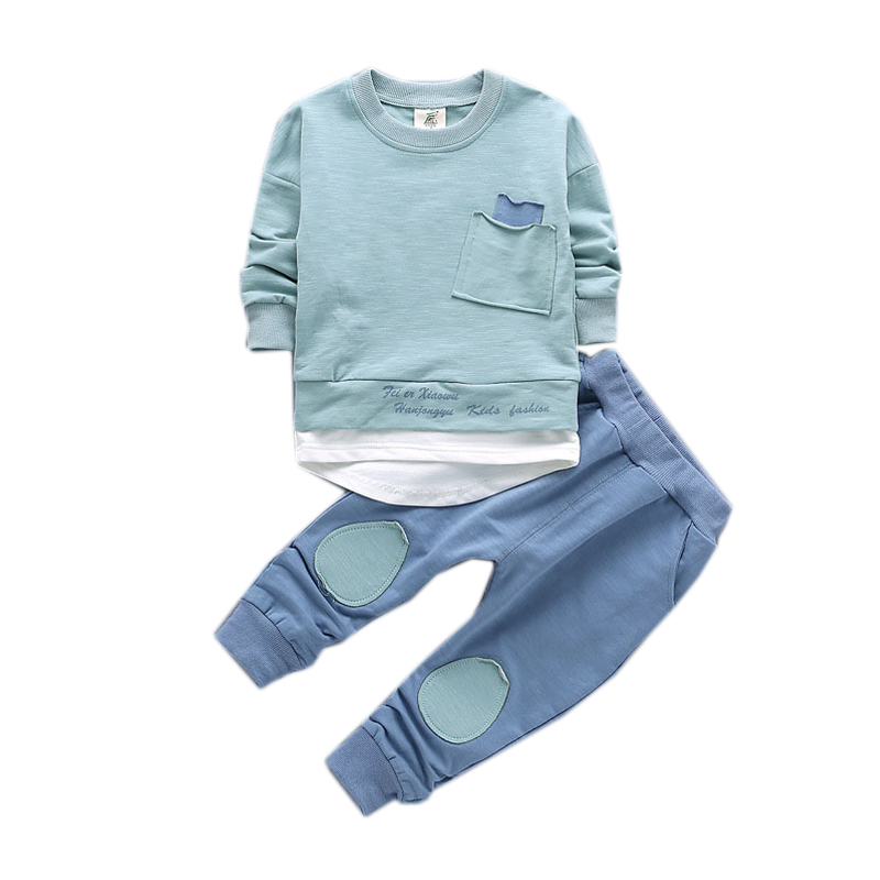 65286d2d1e3 Boys Clothes Long Sleeve Shirts Pants 2pcs Kids Suits for Boys Spring  Toddler Children Clothing Set 1 2 3 4 5 Years Pullover Set