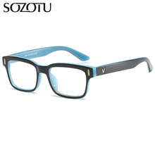 SOTUZO Spectacle Frame Women Men Eyeglasses Myopia Prescription Computer Optical Clear Lens For Female Male Glasses Frame YQ491 смеситель для ванны raiber talis r8002