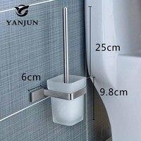 YANJUN нержавеющая сталь Туалет кисточки держатель аксессуары для ванной комнаты туалет с длинной ручкой дома YJ-81958