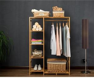 Image 2 - 自然 baboom ワードローブ多機能 burlywood 収納ラック整理器大容量の衣類ハンガーコート家庭用家具