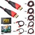Nova Trançado HDMI de Áudio/Vídeo Cabo AV V1.4 HD 3D para PS3 HDTV Xbox 0.5-15 M Metros de 1080 P Full HD DF Para Todos Os HDMI padrões